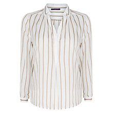 Buy Violeta by Mango Striped Blouse, Beige/Brown Online at johnlewis.com