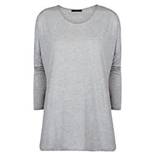 Buy Violeta by Mango Tencel T-Shirt, Medium Grey Online at johnlewis.com