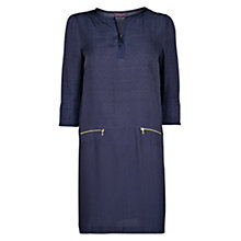 Buy Violeta by Mango Jacquard Shift Dress, Dark Blue Online at johnlewis.com