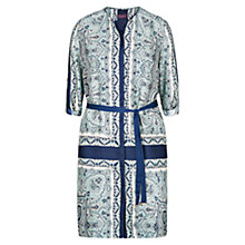 Buy Violeta by Mango Scarf Print Dress, Navy Online at johnlewis.com