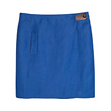 Buy Violeta by Mango Linen-Blend Wrap Skirt, Bright Blue Online at johnlewis.com