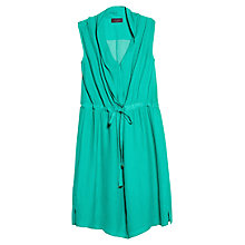 Buy Violeta by Mango Color Flowy Dress, Dark Green Online at johnlewis.com