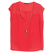 Buy Violeta by Mango Necklace Contrast Blouse Online at johnlewis.com