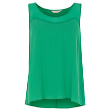 Buy Wishbone Ciara Silk Trim Vest Top, Mid Green Online at johnlewis.com