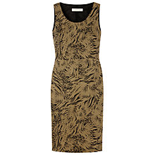 Buy Gérard Darel Printed Straight Dress, Khaki Online at johnlewis.com