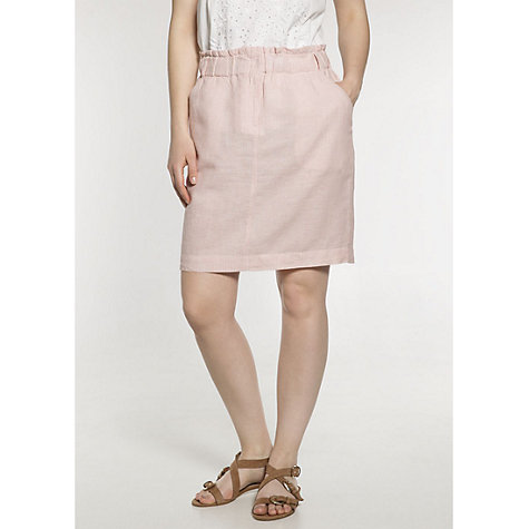 Buy Violeta by Mango Flowy Stripe Skirt, Light Pink Online at johnlewis.com