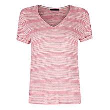 Buy Violeta by Mango Striped T-Shirt, Light Pink Online at johnlewis.com