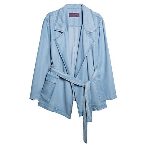 Buy Violeta by Mango Tencel Kimono, Light Pastel Blue Online at johnlewis.com