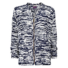 Buy Violeta by Mango Zip Jacquard Jacket, Dark Blue Online at johnlewis.com