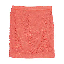 Buy Violeta by Mango Contrast Guipure Skirt, Light Pastel Pink Online at johnlewis.com