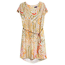 Buy Violeta by Mango Paisley Dress, Medium Red Online at johnlewis.com