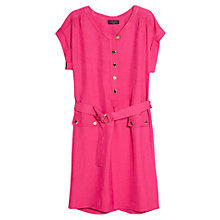 Buy Violeta by Mango Metal Snaps Dress, Medium Pink Online at johnlewis.com