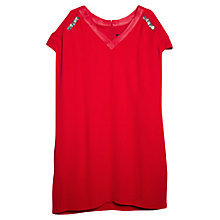 Buy Violeta by Mango, Shoulder-Piece Dress, Bright Red Online at johnlewis.com