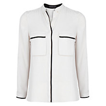 Buy Violeta by Mango Contrast Trim Blouse, Light Beige Online at johnlewis.com