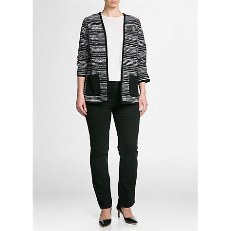 Buy Violeta by Mango Boucle Jacket, Black Online at johnlewis.com