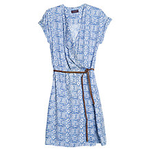 Buy Violeta by Mango Baroque Dress, Bright Blue Online at johnlewis.com