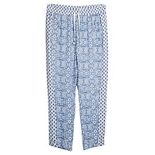 Buy Violeta by Mango Motif Contrast Print Trousers, Azul Online at johnlewis.com