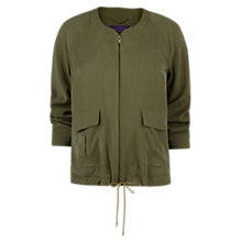 Buy Violeta by Mango Tencel Bomber Jacket, Khaki Online at johnlewis.com