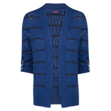 Buy Violeta by Mango Striped Slub Cardigan, Navy Online at johnlewis.com