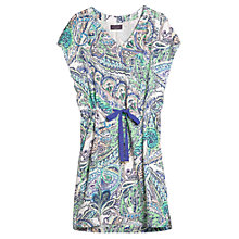 Buy Violeta by Mango Paisley Print Dress, Dark Green Multi Online at johnlewis.com