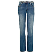 Buy Violeta by Mango Straight-Fit Marta Jeans, Medium Blue Online at johnlewis.com