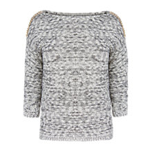 Buy Violeta by Mango Link Chain Jumper, Black Online at johnlewis.com