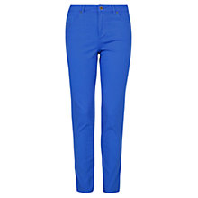 Buy Violeta by Mango Straight-Fit Cotton Trousers Online at johnlewis.com
