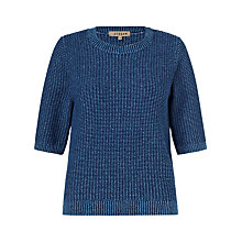Buy Jigsaw Micro Stitch Jumper, Blue Online at johnlewis.com
