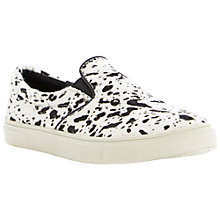 Buy Steve Madden Ecentric Pony Slip On Shoes, Black/White Online at johnlewis.com