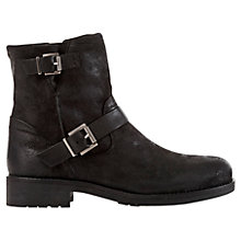 Buy Geox Virna Biker Boots, Black Online at johnlewis.com