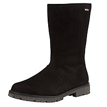 Buy Gabor Frinton Nubuck And Leather Calf Boots, Black Online at johnlewis.com