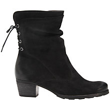 Buy Gabor Sonic Nubuck Leather Ankle Boots, Black Online at johnlewis.com