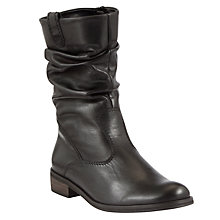 Buy Gabor Trafalgar Leather Calf Boots, Black Online at johnlewis.com