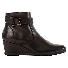 Buy Geox Amelia Leather Wedge Buckle Trim Ankle Shoe Boots Online at johnlewis.com