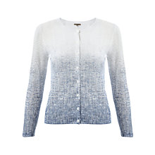 Buy Jigsaw Ombre Print Cardigan, White Online at johnlewis.com
