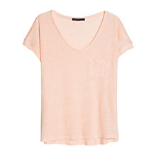 Buy Violeta by Mango Linen T-Shirt Online at johnlewis.com
