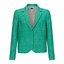 Buy Jigsaw Parisienne Tailored Silk Jacket, Green Online at johnlewis.com