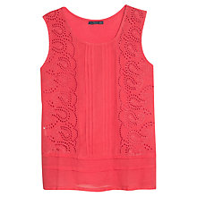 Buy Violeta by Mango Broderie Vest Top Online at johnlewis.com
