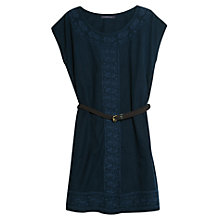 Buy Violeta by Mango Ethnic Embroidered Tunic Dress, Navy Online at johnlewis.com
