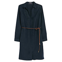 Buy Violeta by Mango Belted Linen Dress, Navy Online at johnlewis.com