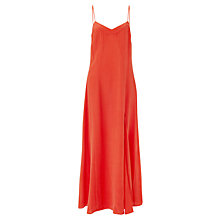 Buy Jigsaw Mandarin Silk Maxi Dress, Orange Online at johnlewis.com