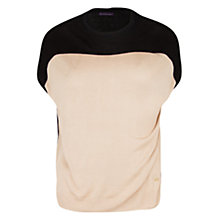 Buy Violeta by Mango Colour Block Top, Light Beige Online at johnlewis.com