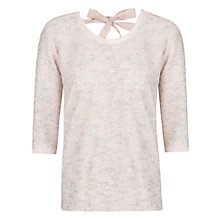 Buy Violeta by Mango Metallic Bow Jumper, Light Pastel Brown Online at johnlewis.com