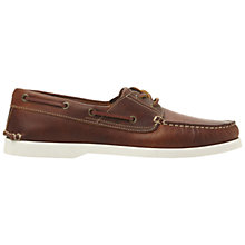 Buy Dune Boat Party Leather Boat Shoes Online at johnlewis.com