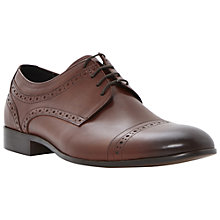 Buy Dune Aboard 2 Leather Brogue Shoes, Tan Online at johnlewis.com