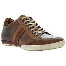 Buy Dune Tipple Panel Leather Trainers, Tan Online at johnlewis.com