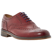Buy Dune Axton Leather Brogue Oxford Shoes, Red Online at johnlewis.com