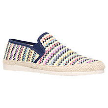 Buy KG by Kurt Geiger Eli Slip On Espadrilles, Yellow/Multi Online at johnlewis.com