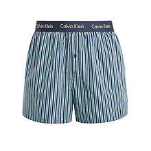 Buy Calvin Klein Underwear Woven Louis Stripe Boxers, Blue Online at johnlewis.com