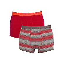 Buy Calvin Klein Underwear CK One Stripe Trunks, Pack of 2, Red Online at johnlewis.com